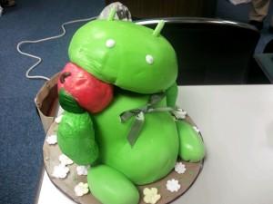 Appleを食べるドロイドケーキ